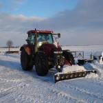sneeuw schuiven